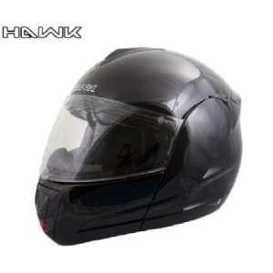 Advanced Hawk Gloss Black Dual Visor Full Face Motorcycle