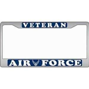 U.S. Air Force Veteran License Plate Frame Automotive