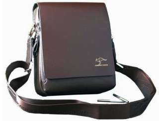 New Mens Kangaroo Brown Leather Shoulder Messenger Bag Briefcase