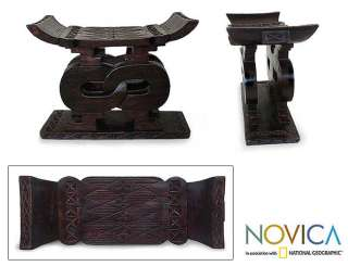 AFRICAN UNITY~Carved Wood Stool Bench~FURNITURE ART