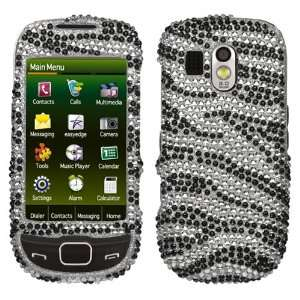 Zebra Skin Diamante Protector Cover for Samsung R850 Caliber, R860