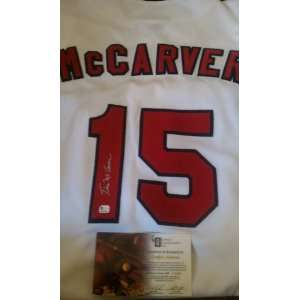 Tim McCarver Signed Authentic St. Louis Cardinals Jersey GAI