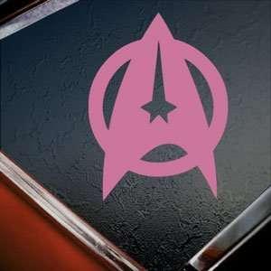 Star Trek Starfleet Shield Pink Decal Window Pink Sticker