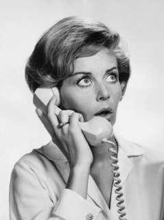 Woman Talking on Phone, ing Surprised Photographic Print at