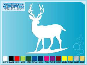DEER Silhouette #1 Deer Hunting cut vinyl decal sticker
