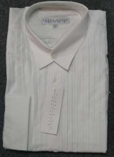 New Mens White Crosswick Perry Ellis Tuxedo Shirt M2/3