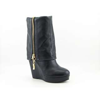 Steven Steve Madden Brix Womens SZ 8 Black Boots Knee Shoes