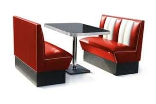 bel air set dinerbaenke mit tisch farbe red white l 120cm b 59cm h