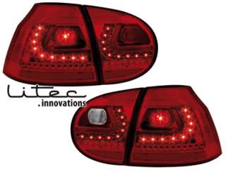 Golf 5 Litec LED Rückleuchten red/crystal Golf 6 Optik!