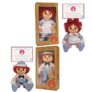 Russ Berrie Raggedy Andy Collectible Doll with Certificate