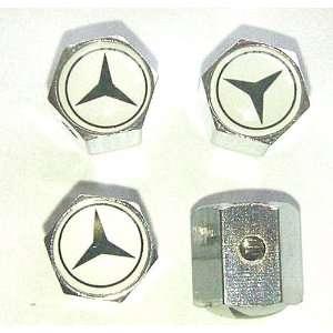 Mercedes Benz Anti theft Car Wheel Tire Valve Stem Caps