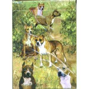 American Staffordshire/Pitbull Dog Playing Cards by Ruth Maystead