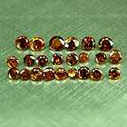 03Ct Rare Almost Eye Clean Red Cognac Round Natural Diamond Lot