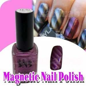 Fashion Magnetic Nail Polish Varnish Finish 12ml   # 07 Metallic