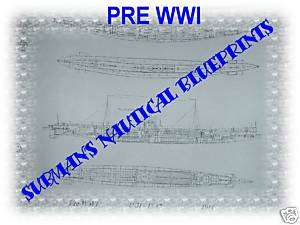 1914 PRE WWI GERMAN U Boat U 31 BLUEPRINT