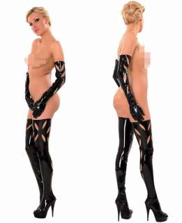 Anita Berg Rubber Latex stockings halterlose Struempfe m.zipper S  XL