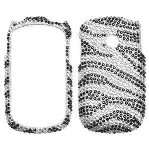 Black Zebra Skin Diamante Protector Cover for LG 800G