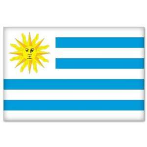 URUGUAY Flag car bumper sticker decal 5 x 3 Automotive