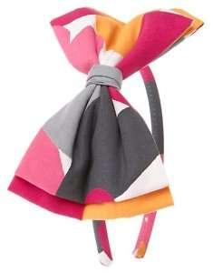 GYMBOREE Panda Academy NWT Heart Hair Bow HEADBAND (pink fuchsia