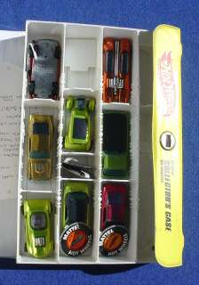 1960s Hot Wheels Red Line Car Lot 8 + Buttons & Case As Shown