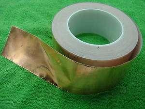 60mm X 30M COPPER Foil EMI Shielding Tape 2 rolls new