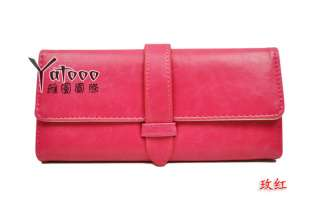 Popular Korean Retro Womens Colorful Clutch Wallet Purse Clutch