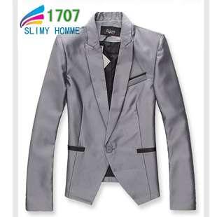 Korean Fashion Mens Quality Jacket One Button Tuxedo Blazer US XS S M