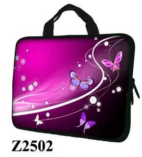 17 17.3 LAPTOP SLEEVE BAG CASE w HIDDEN HANDLE BUTTERFLY Z2502   USA