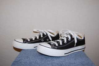 Unisex Converse All Star Black Low Top Shoes 2/33.5