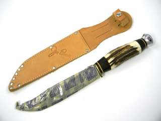 Eye / Carl Schlieper  JIM BOWIE Hunter Sheath Knife Stag MINT