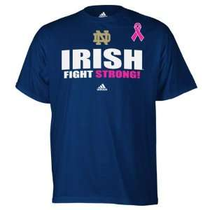 Notre Dame Fighting Irish adidas Navy Breast Cancer Awareness Live