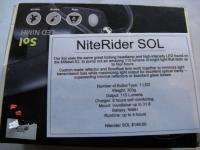 Sol LED NiMH Single Light Bicycle Light NEW bike commuter nite rider