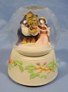 Schmid Musical Snow Globe   Beauty and the Beast