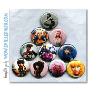 NICKI MINAJ   PINS BUTTONS BADGES (pink friday drake)