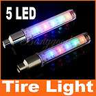 Cycling Bike Bicycle Tire Wheel Valve 5 LED Flash Spoke Light Car