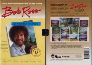 New Bob Ross Joy of Oil Painting TV Series 6 on DVD ART