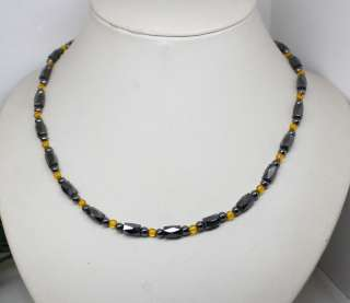 wholesale 4strands magnetite beads necklace Fashion Jewelry 18long