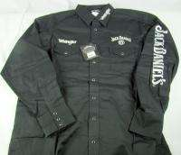 Mens Wrangler Jack Daniels Long Sleeve Western shirt NWT Tall Size LT