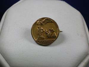 Vintage 1919 gold filled WINGED VICTORY pin N.F. BPWC