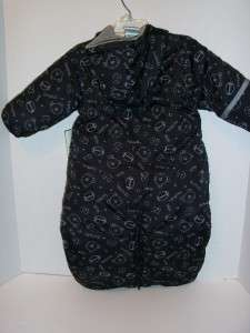 NWT infant boy black/grey sport print snow suit