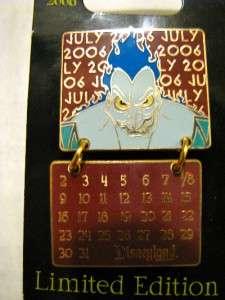 Disney Dangle Villain Calendar SET 12 Pins Year NEW LE