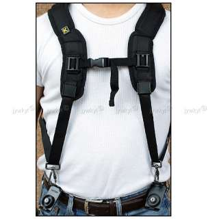 Double Dual Shoulder Belt Strap Harness Holder DSLR Camera Canon