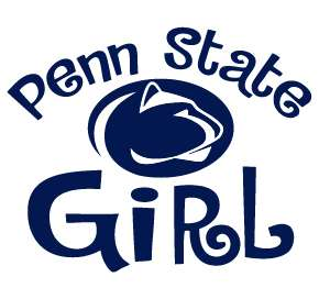 PENN STATE GIRL NITTANY LIONS clear vinyl decal sticker car truck