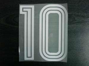 RARE RETRO #10 Adidas Style 1980s VELVET FLOCK Numbering