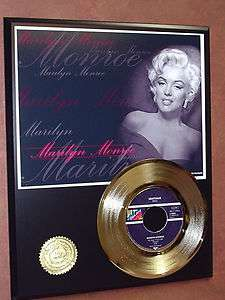 MARILYN MONROE 24kt GOLD 45 RECORD LTD EDTION / 600 ARTISTS IN