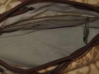 Spartina 449 Daufuskie Island Linen & Leather Purse Handbag Bag |