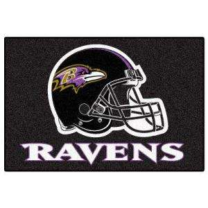 Football League Baltimore Ravens 1 ft. 7 in. x 2 ft. 6 in. Accent Rug