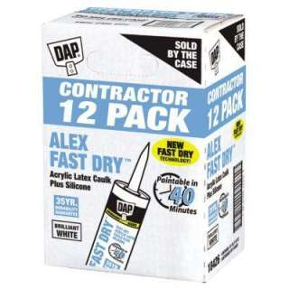 DAP ALEX Fast Dry 10.1 oz. Acrylic Latex Plus Silicone Caulk (12 Pack