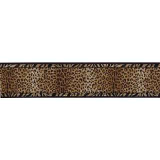 15 Ft Black And Gold Animal Print Border WC1283012