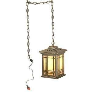 Lighting Tiffany Avery Lantern with Swag 1 Light Hanging Antique